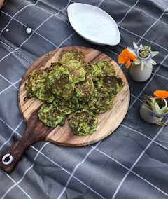 SILVERBEET AND ZUCCHINI FRITTERS