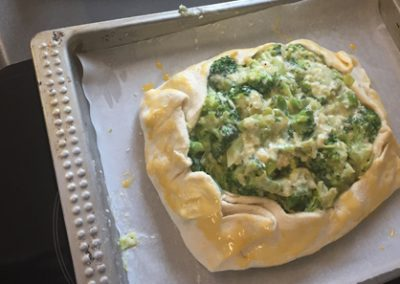 LEEK AND BROCOLLI TART
